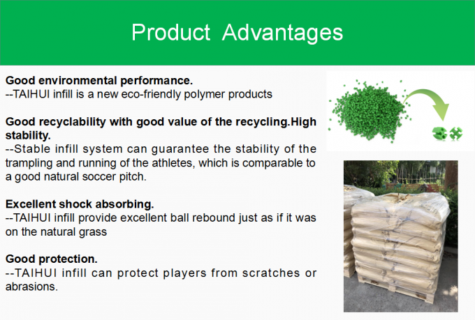 Environmental Friendly Artificial Grass Infill SEBS Rubber Granules Odorless Anti-Static With TPE / TPV At FIFA Standard 1