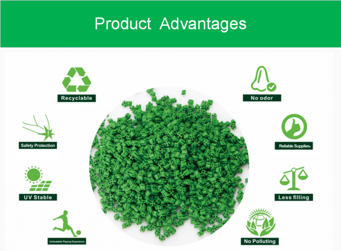 SEBS Shock Absorbing Rubber Infill Cooling granules Recyclable Turf Infill For Artificial Grass Less Filling Acid 2