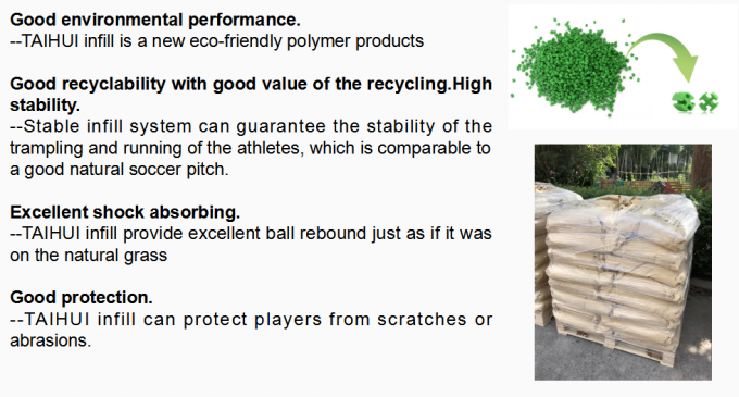 SEBS Shock Absorbing Rubber Infill Cooling granules Recyclable Turf Infill For Artificial Grass Less Filling Acid 4